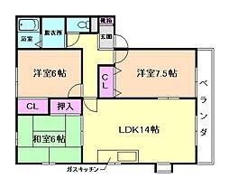 ファミリアハイツ[2階]の間取り