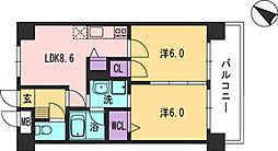 コンダクト福岡東[406号室]の間取り