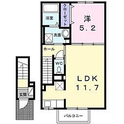 カルーム[2階]の間取り