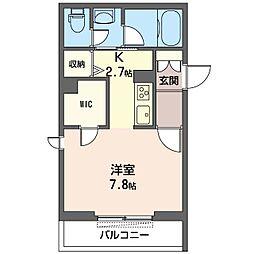 仮)新松戸3丁目シャーメゾン 3階1Kの間取り