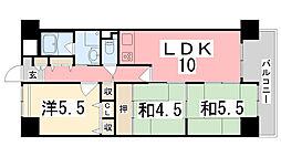 ライオンズマンション西今宿[7階]の間取り