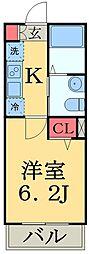 JR総武本線 東千葉駅 徒歩8分の賃貸アパート 1階1Kの間取り