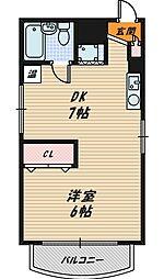 ネイティブ京橋[3階]の間取り