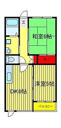 華蓮レジデンス[2階]の間取り