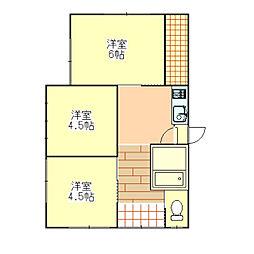 [一戸建] 茨城県土浦市小松2丁目 の賃貸【/】の間取り