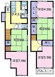 [一戸建] 大阪府堺市東区高松 の賃貸【大阪府 / 堺市東区】の間取り