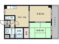木島マンション[1階]の間取り