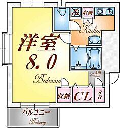 アクシス板宿[3階]の間取り