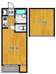 グリーンヒル筥崎[203号室]の間取り