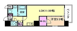 M:COURT福島 5階1LDKの間取り