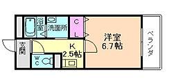 兵庫県川西市東久代1丁目の賃貸マンションの間取り