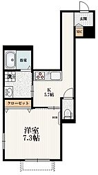 京王井の頭線 池ノ上駅 徒歩4分の賃貸マンション 1階1Kの間取り