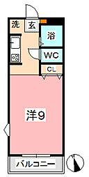 ニューエクセル三宅 F[106号室]の間取り