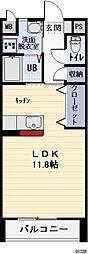 愛知県岩倉市大市場町の賃貸アパートの間取り