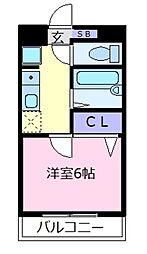 Rinon恵我之荘[1階]の間取り