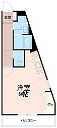 クロシェットブルヴァ—ル[2階]の間取り