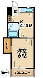 小島ハイツ1号[3階]の間取り