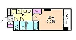 阪急宝塚本線 三国駅 徒歩6分の賃貸マンション 2階1Kの間取り