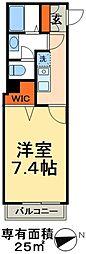 JR常磐線 北小金駅 徒歩3分の賃貸アパート 2階1Kの間取り