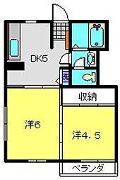 浅井アパート[201号室]の間取り