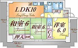 エスパシオ神戸[4階]の間取り