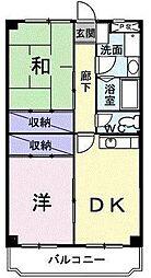 埼玉県坂戸市三光町の賃貸マンションの間取り