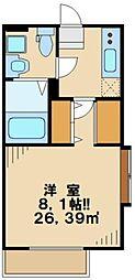 東京都多摩市関戸4丁目の賃貸アパートの間取り