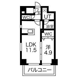 プレスタイル博多駅南[7階]の間取り