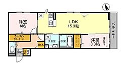 D-room堺市北区百舌鳥西之町 3階2LDKの間取り