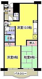 グリーンハイム飯田[1階]の間取り