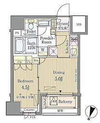 東京メトロ銀座線 神田駅 徒歩2分の賃貸マンション 6階1DKの間取り