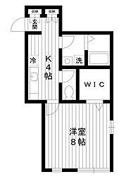 東京都練馬区練馬1丁目の賃貸アパートの間取り