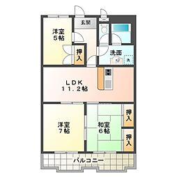 Fresca KAMIO[4階]の間取り