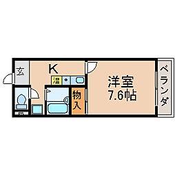 滋賀県高島市新旭町深溝の賃貸マンションの間取り