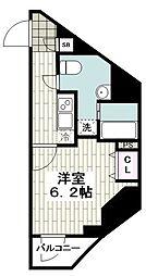 レガーロ吉野町 3階1Kの間取り