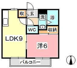ラピュータ大島 C[102号室]の間取り