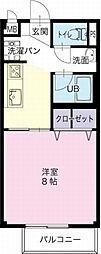 愛知県春日井市下市場町の賃貸アパートの間取り