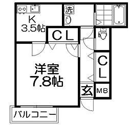 グランドソレイユ香里園[3階]の間取り