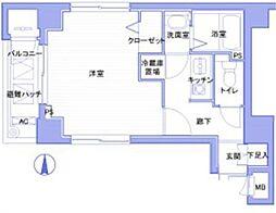 メゾンドヴィレ神田神保町[4階]の間取り