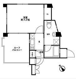 リベルテ登戸[5階]の間取り