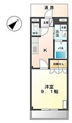 愛知県豊橋市往完町字郷社東の賃貸アパートの間取り