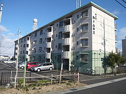 滋賀県栗東市岡の賃貸マンションの外観
