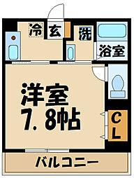 comfort yuuya 3階1Kの間取り