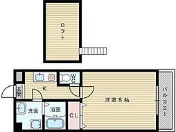 シャンテドミールAWAJI[6階]の間取り