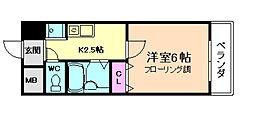 トーリエユタカ[4階]の間取り