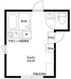 LH NAKANO 地下3階ワンルームの間取り