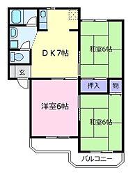 ロイヤルコートA棟[2階]の間取り
