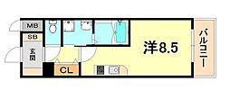 エヴァステージ神戸六甲 10階1Kの間取り