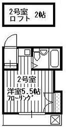 トキワハイム所沢[202号室]の間取り