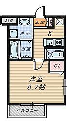 エヌエムサンカンテセット[2階]の間取り